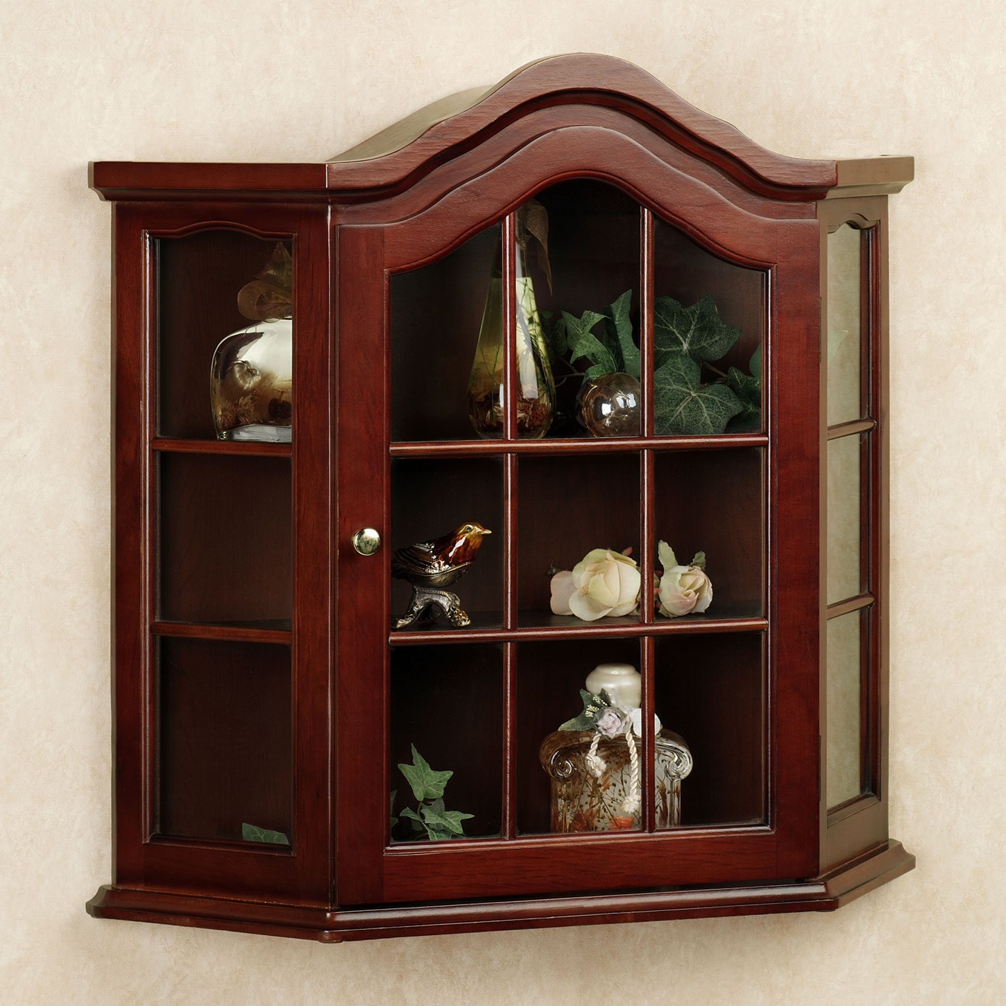 Aubrie Wall Curio Cabinet. Sandpiper and Sea Oats Wall Set Set of Two   Curio cabinets  Wall