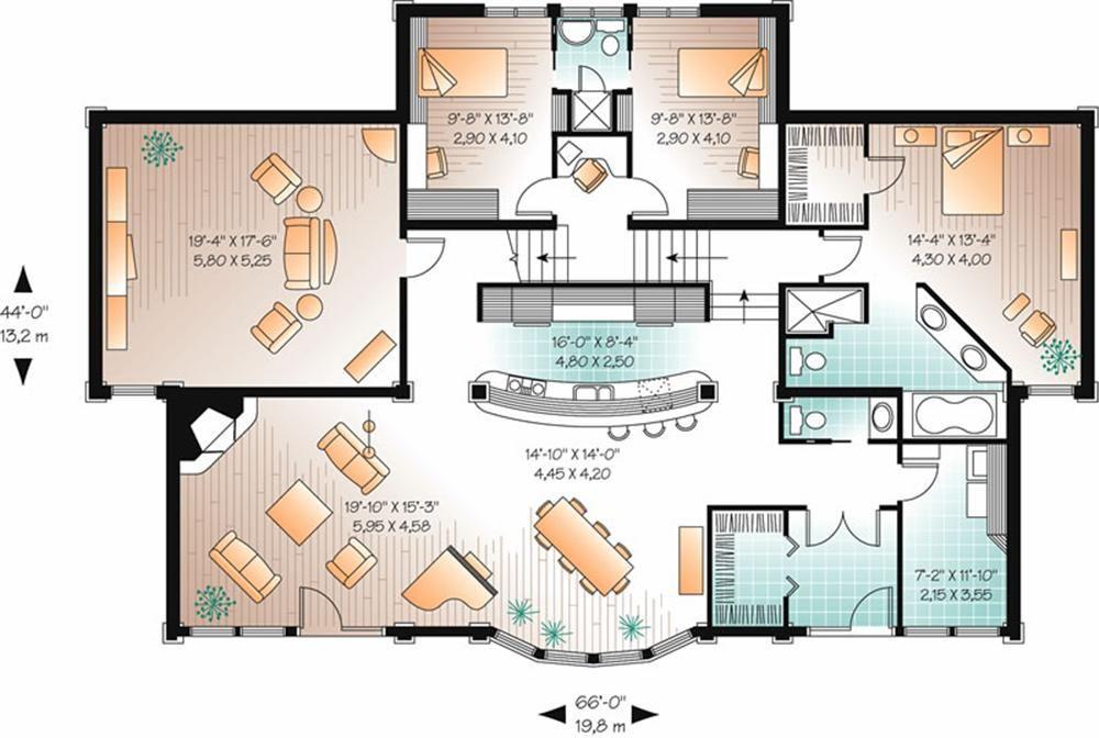 5 Ambientes House Plans Florida House Plans Contemporary House Plans