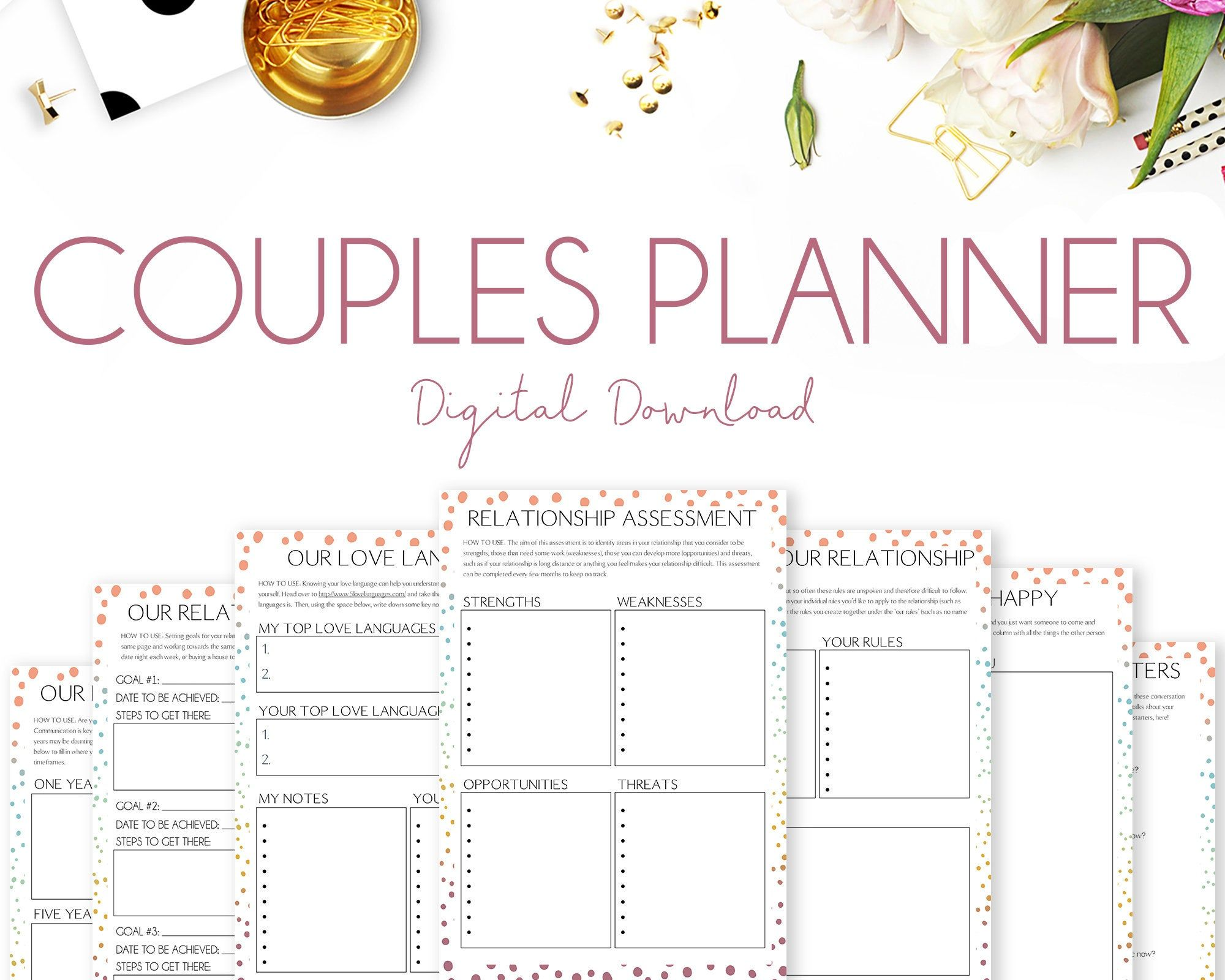Couples Planner Relationship Planner Marriage Planner
