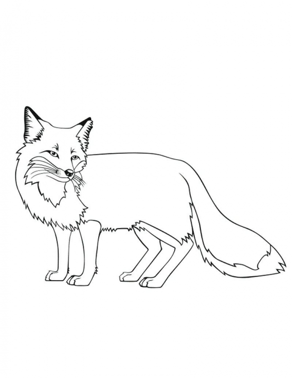 Fox Coloring Pages Printable #kidswoodcrafts