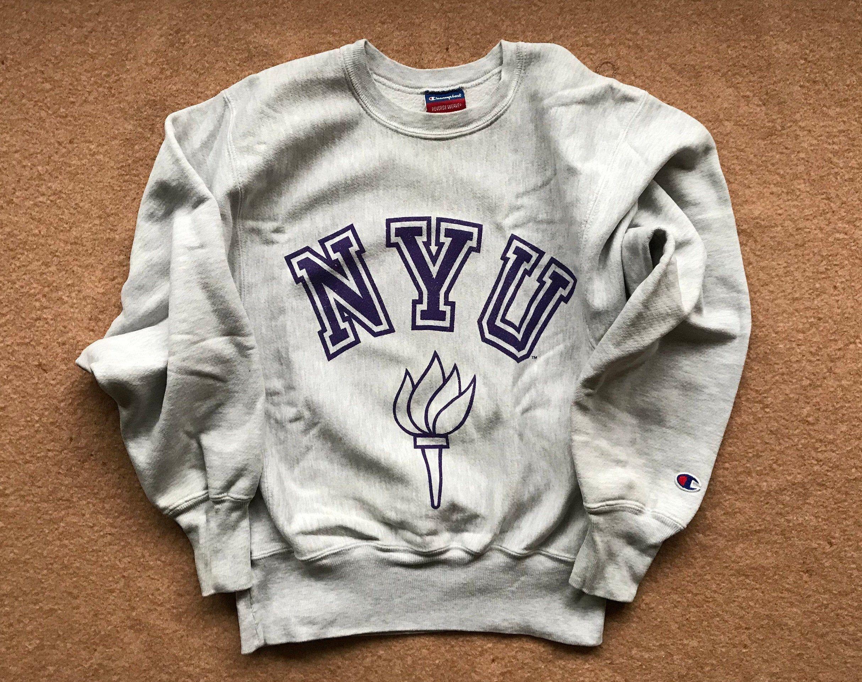 New York University Nyu Sweatshirt Reverse Weave By Etsy Sweatshirts Nyu Sweatshirt Champion Sweatshirt [ 1922 x 2428 Pixel ]