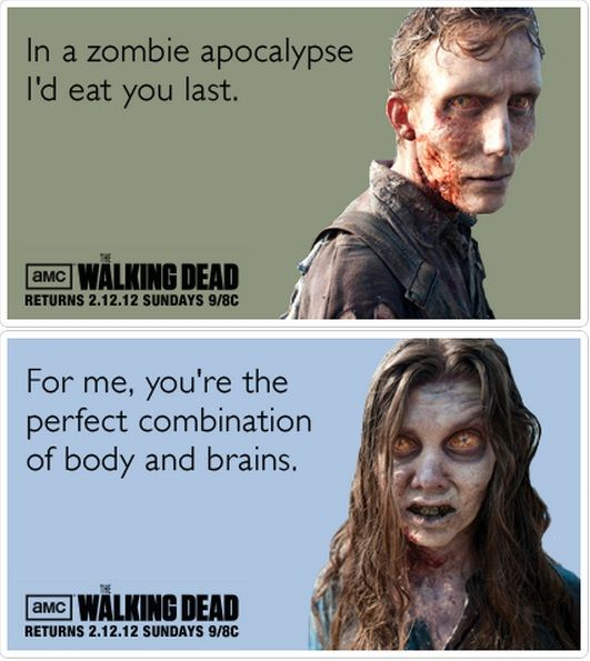 Here Are 25 Funny Pop Culture Valentines To Win Over The Most Discerning Of  Paramours. Funny ValentineValentine Day CardsPunsSarcasmWalking DeadPop ...