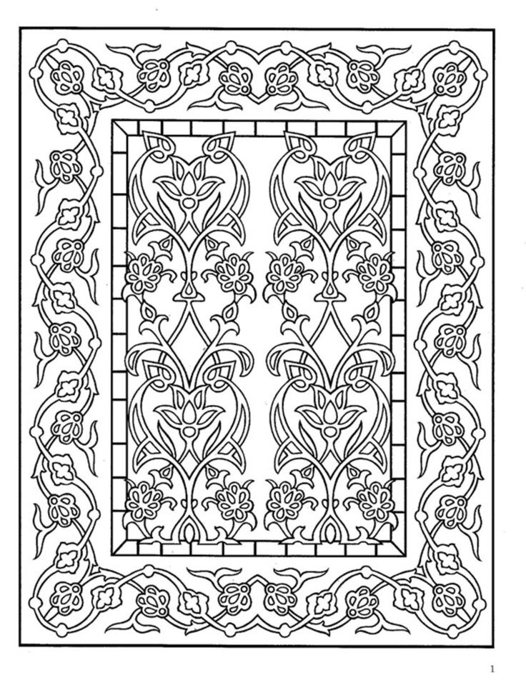 free dover coloring pages | Dover Decorative Tile Coloring ... - photo#26