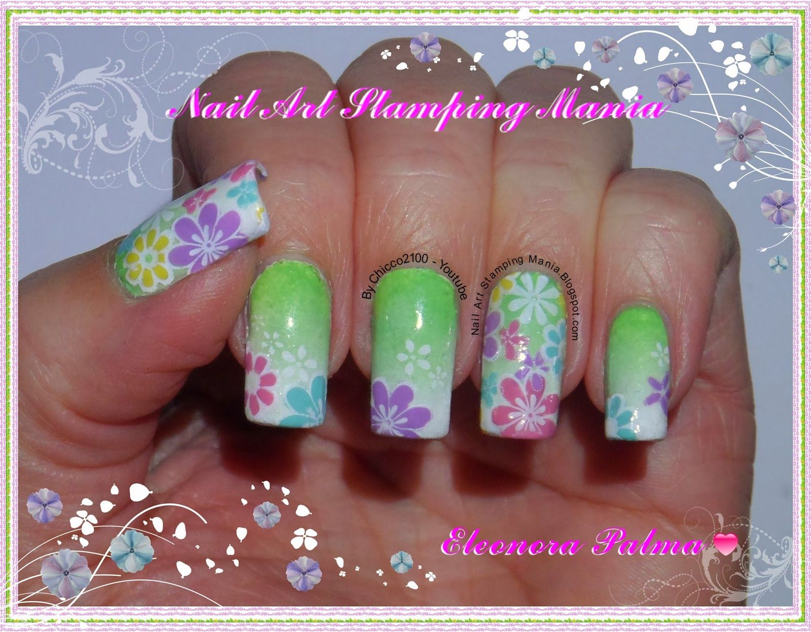 Nail Art Stamping Mania: Stamping Decal With Konad Plate m100 ...