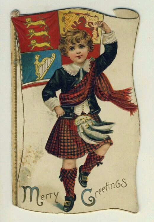 рождественские открытки шотландии это сделать