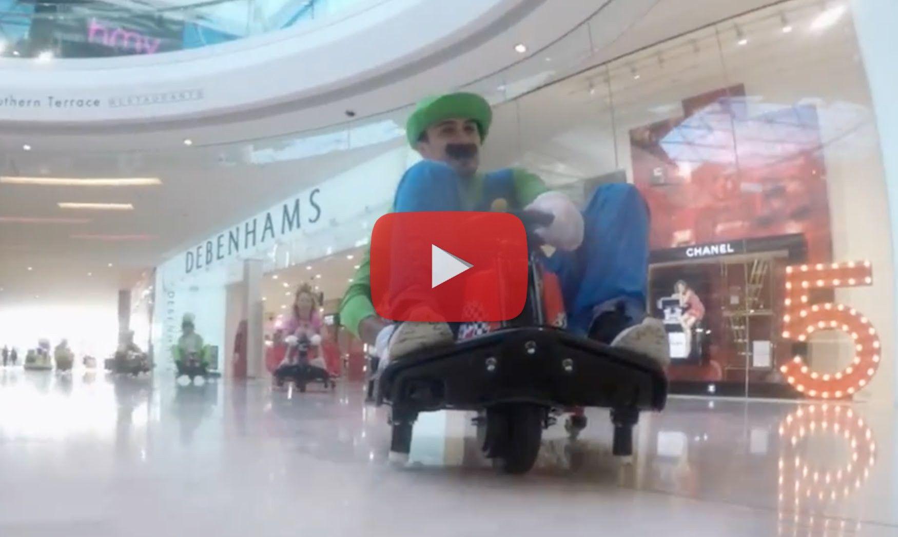 Mario Kart FlashMob - Watch here: http://laughdaily.net/funny/mario-kart-flashmob/