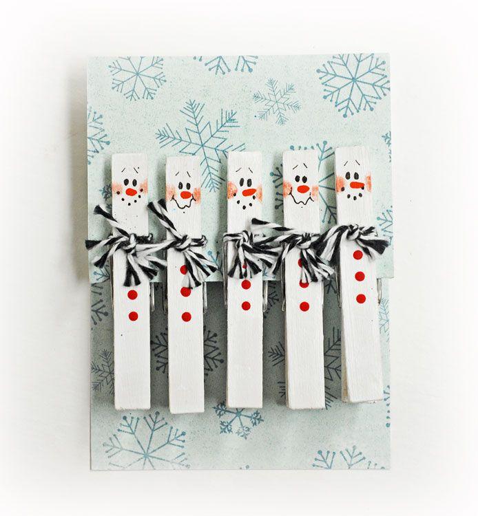 D.I.Y. Snowman Clothespins #Christmas