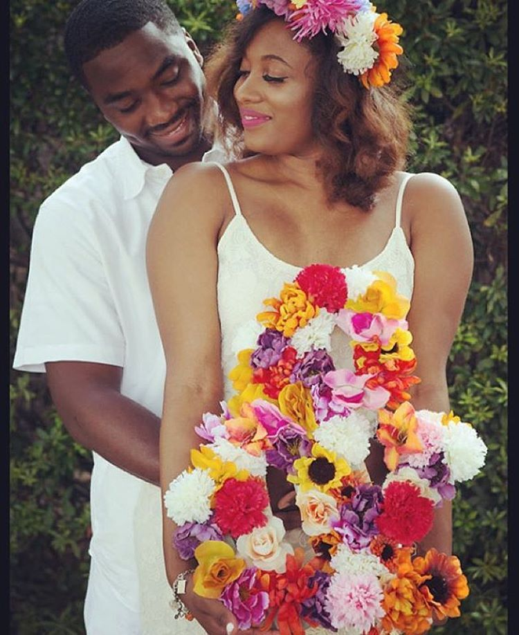 The flowers in this photo are glorious! @_lovedoes_ and @live_masx20's beautiful engagement photos. And do you peep her strong lash game??? #theblackbachelorette #engaged #engagementphotos #blacklove #futuremrs #cantwaittomarryhim #prewedding #weddingplanning