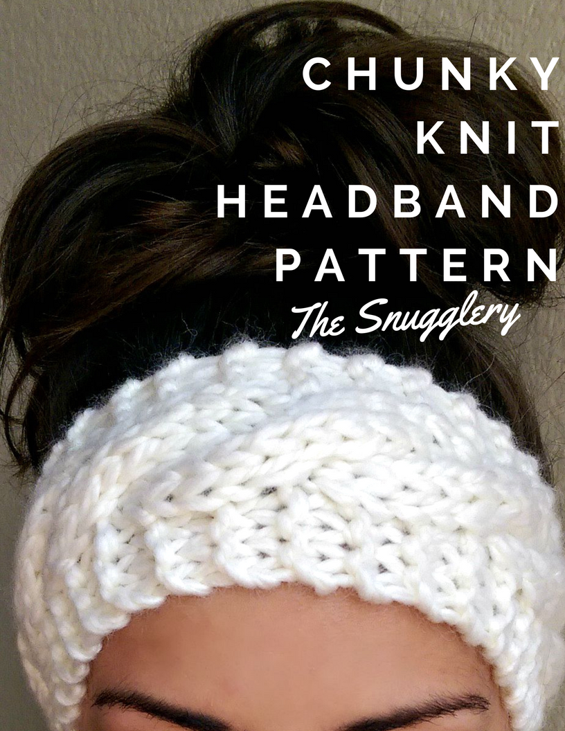 Free Chunky Cable Knit Headband Pattern Crochet and Knitting Pinterest ...