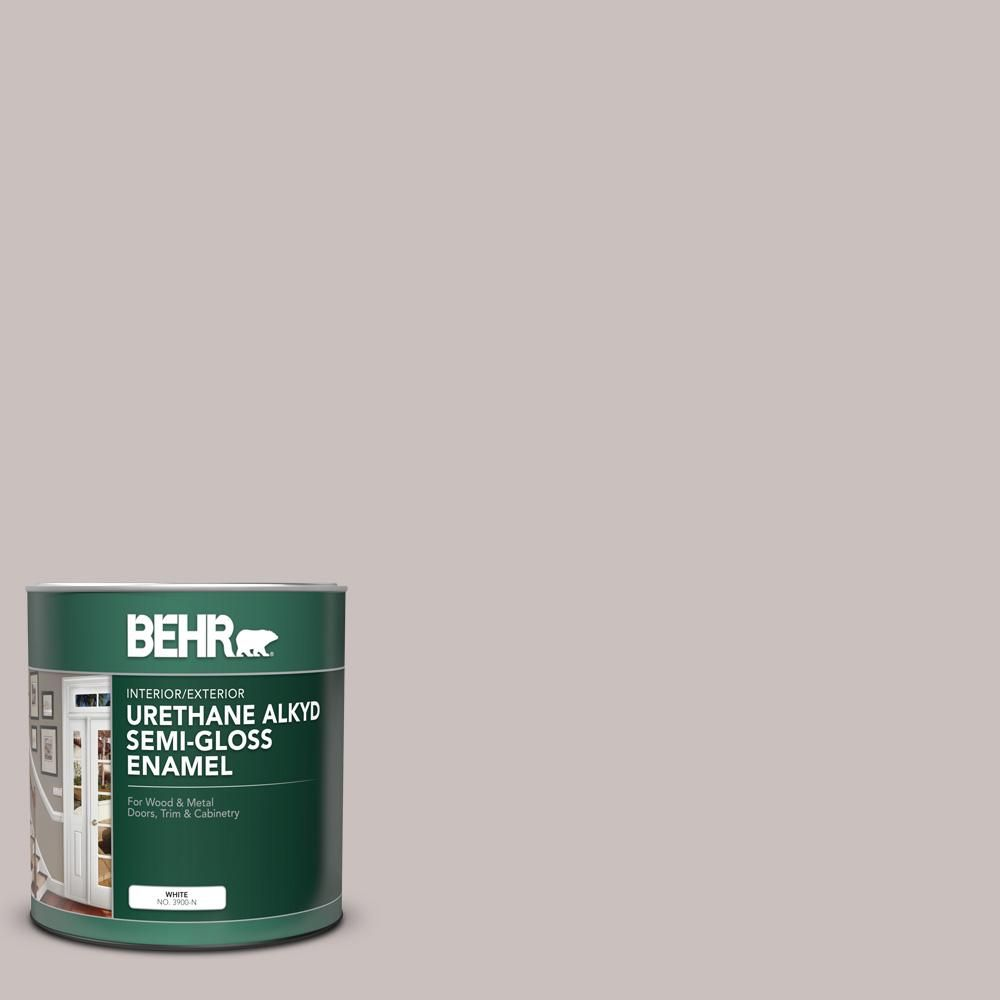Behr 1 Qt N140 2 Chicago Fog Semi Gloss Enamel Urethane Alkyd Interior Exterior Paint 390004 The Home Depot Exterior Paint Painted Floors Interior And Exterior