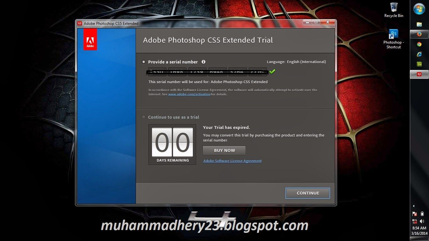 serial adobe photoshop cs5 extended number