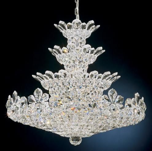 Get various sizes of crystal ware from value village gluedrill and make your own crystal chandelier chandelier mozeypictures Choice Image