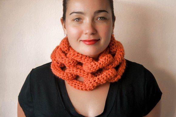 Crochet Chain Link Scarf Pattern Crocheting Pinterest Crochet