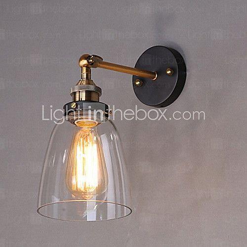 Rustic Lodge Wall Lamps Sconces Metal Wall Light 110 120v 220 240v 60w 2020 Us 49 47 Wall Mounted Light Glass Wall Lights Glass Wall Sconce