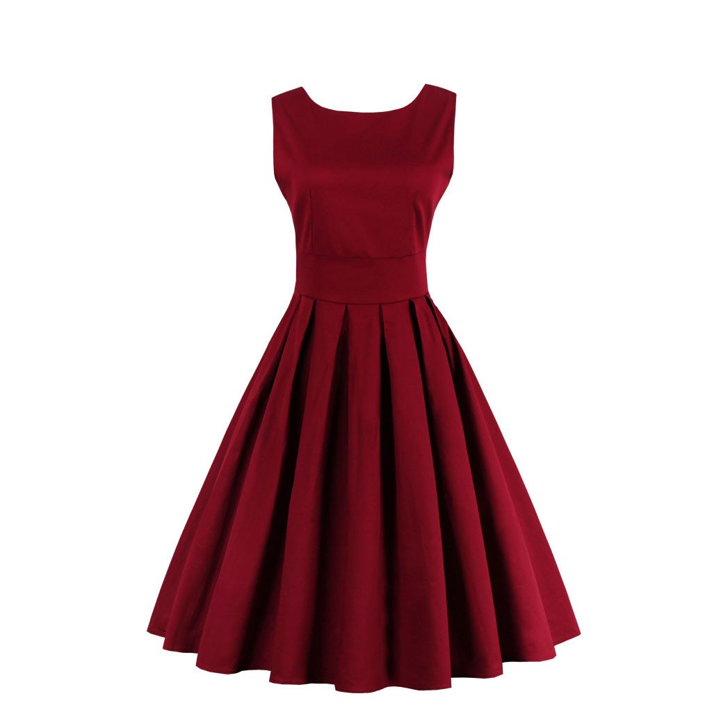 Burgundy Pleated Vintage Dress | Vintage dresses, Diy clothes and ...