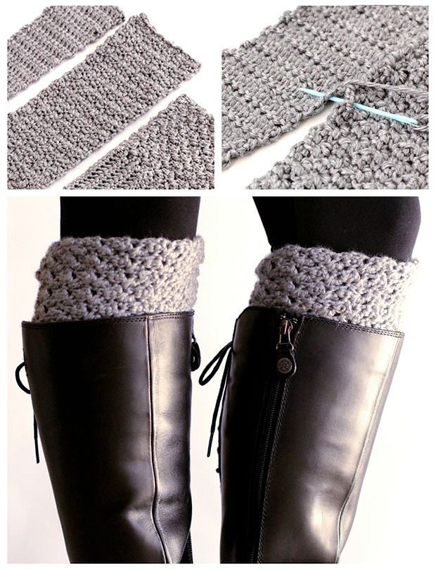 Easy Reversible Crochet Boot Cuffs | Free pattern, Crochet and ...