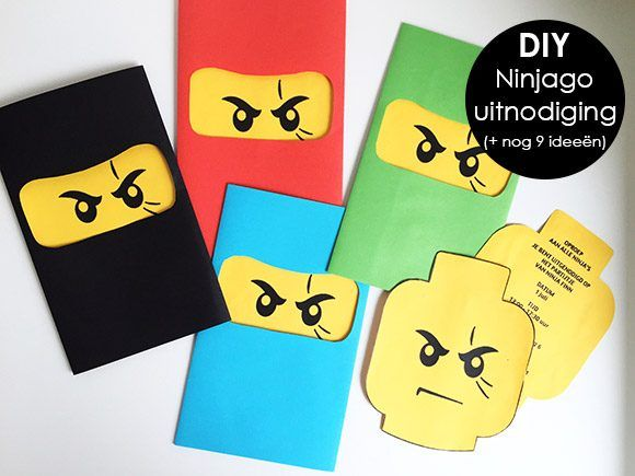 Verjaardag, Jarig, Partijtje, Uitnodiging, Thema, Ninja, Ninjago, Lego,
