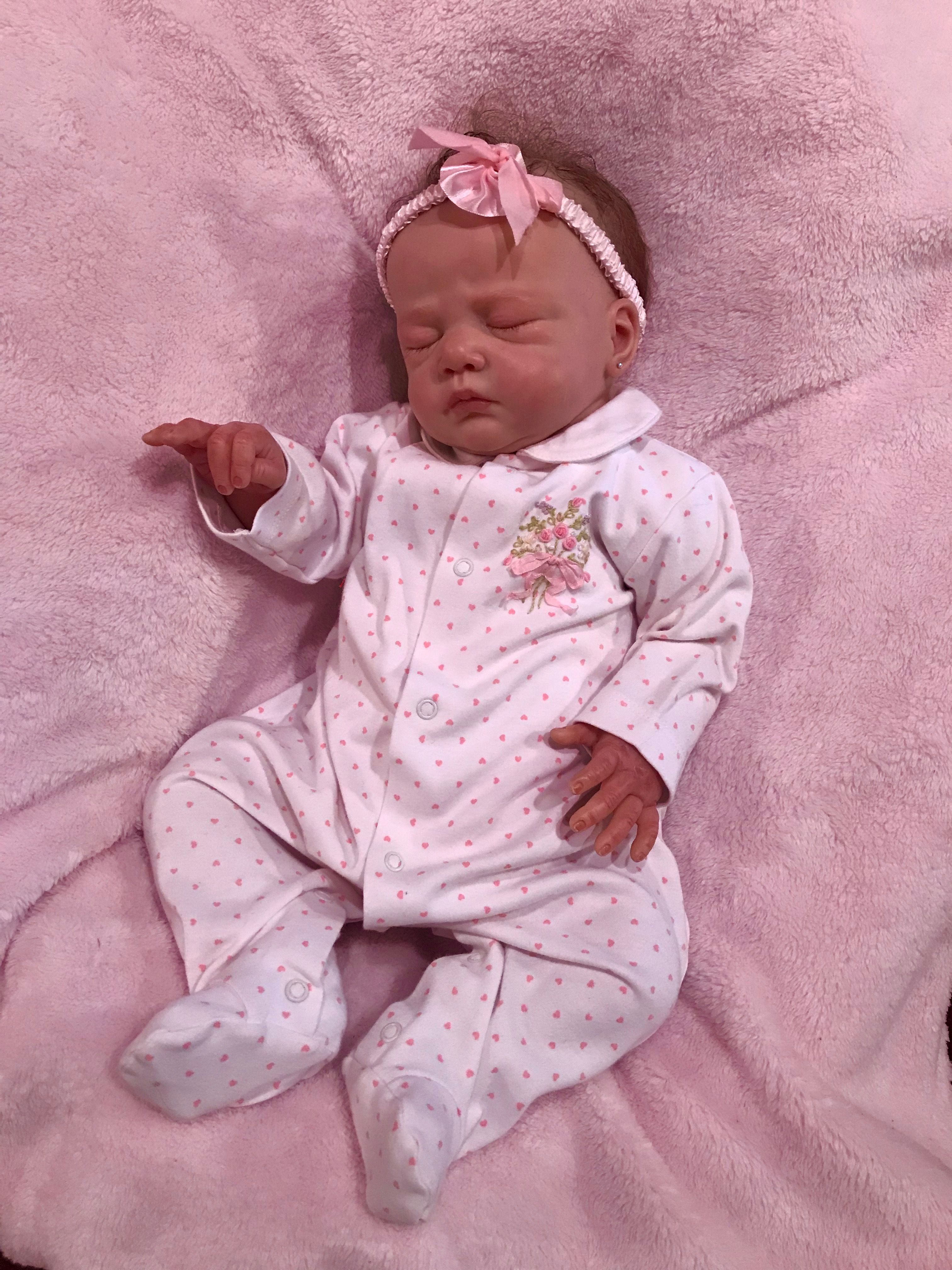 lillie beth, reborn baby doll, in an adorable sleepervictoria