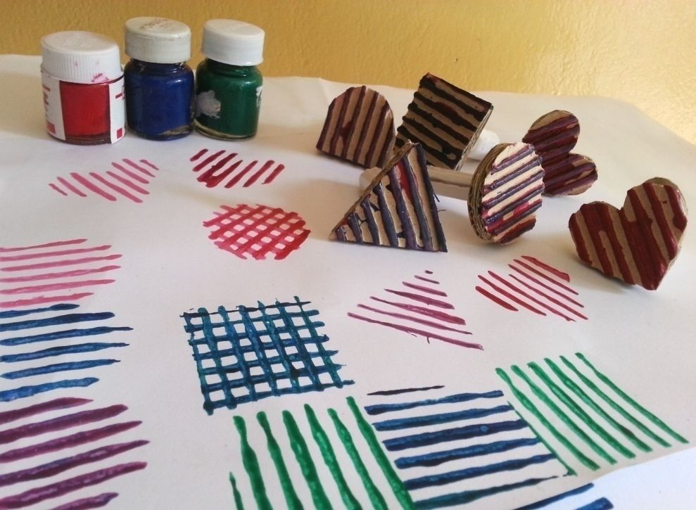 Diy Cardboard Stamps #howto #tutorial