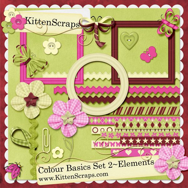 Colour Basics Set 2- Elements , created by KittenScraps, Digital Scrapbooking