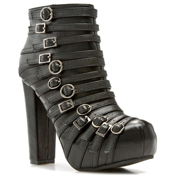 Dollhouse Asra Bootie ($15) ❤ liked on Polyvore