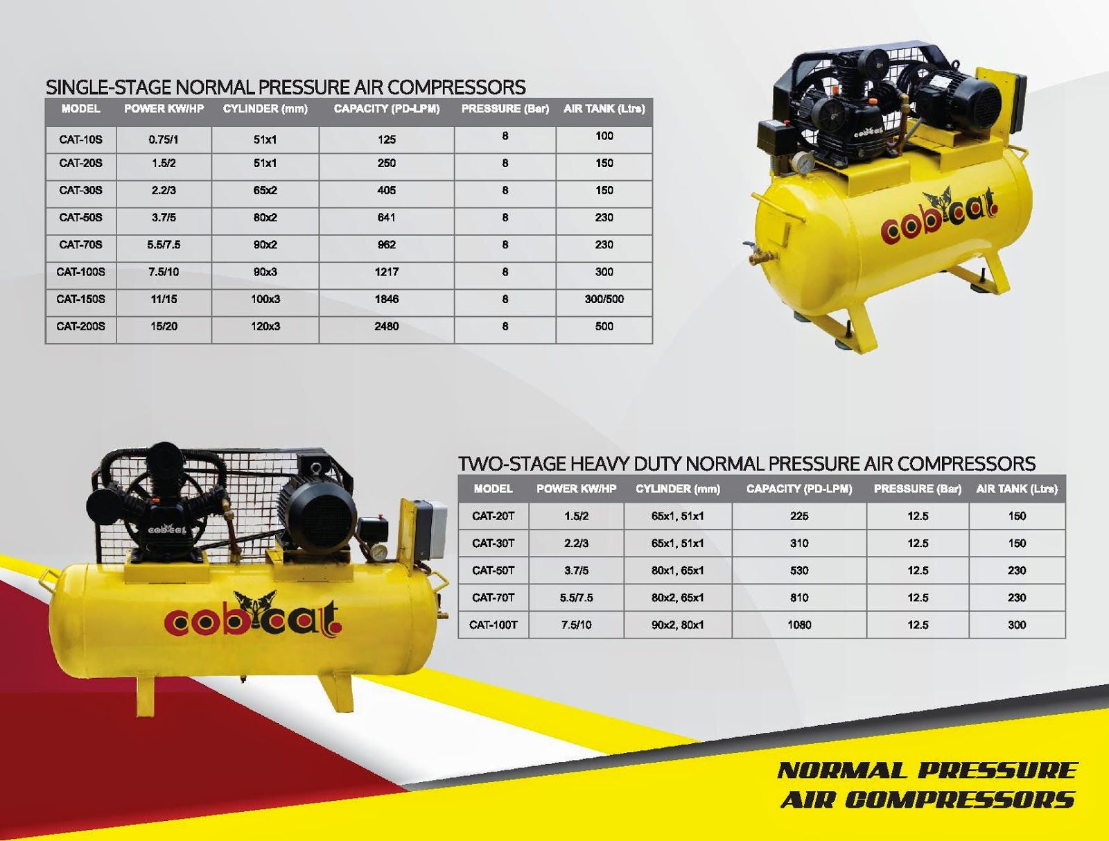 Single stage air compressor Manufacturers Two stage air