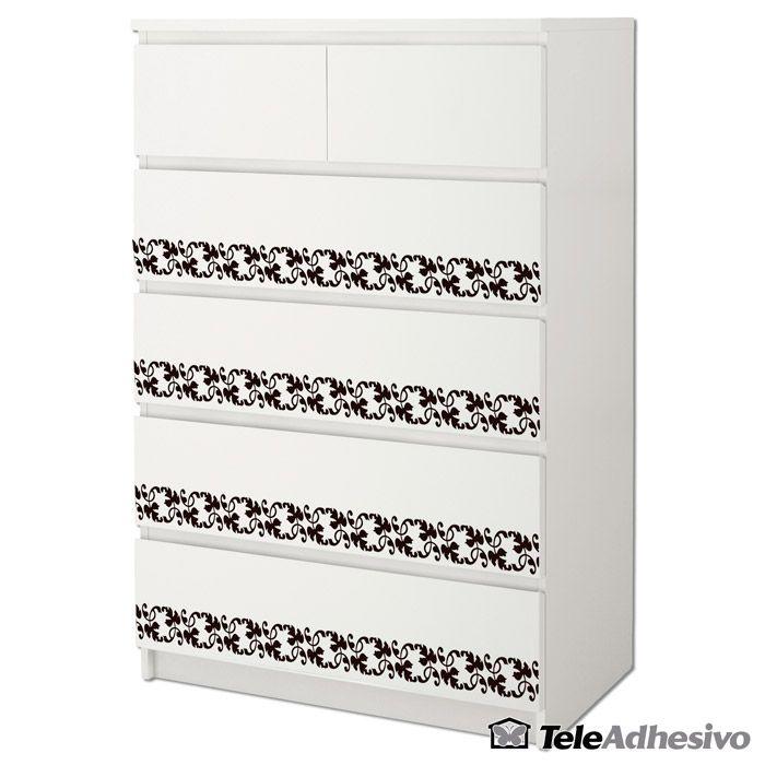 Cómoda #Malm de #Ikea decorada con cenefa de #vinilo decorativo ...