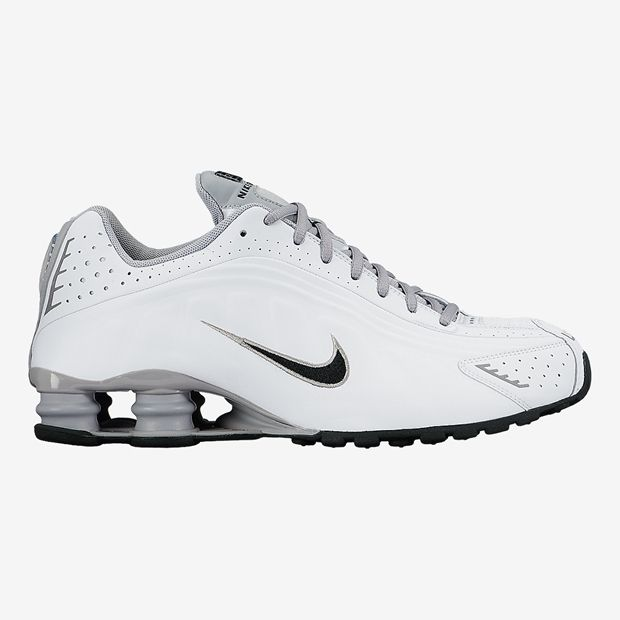Tênis Nike Shox R4 Branco com Preto Masculino