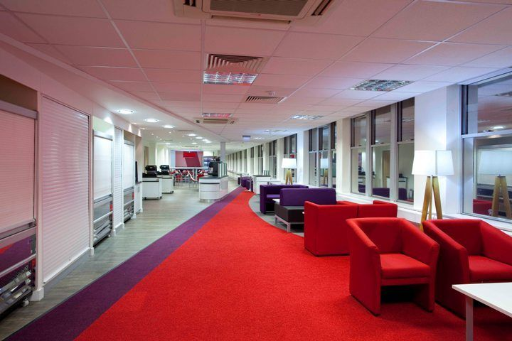 A Colourful Way Of Furnishing Educational Space At Sheffield Hallam University Aspect Court
