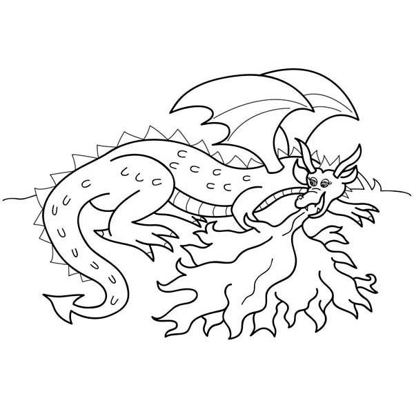 Dragon Spit Lots Of Fire Coloring Page Dragon Coloring Page Super Coloring Pages Fire Breathing Dragon