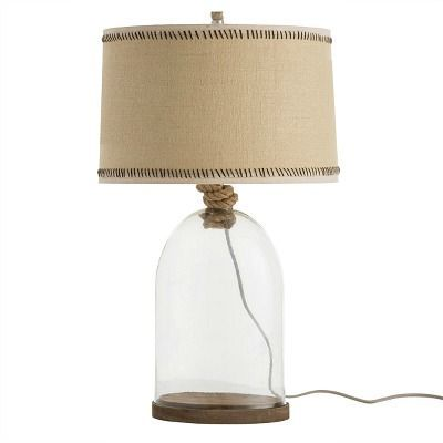 Display Treasured Shells In The Chic Clear Glass Emerson Table Lamp Offered By Arteriors Home Rope Detailing Around Tall Table Lamps Lamp Natural Table Lamps