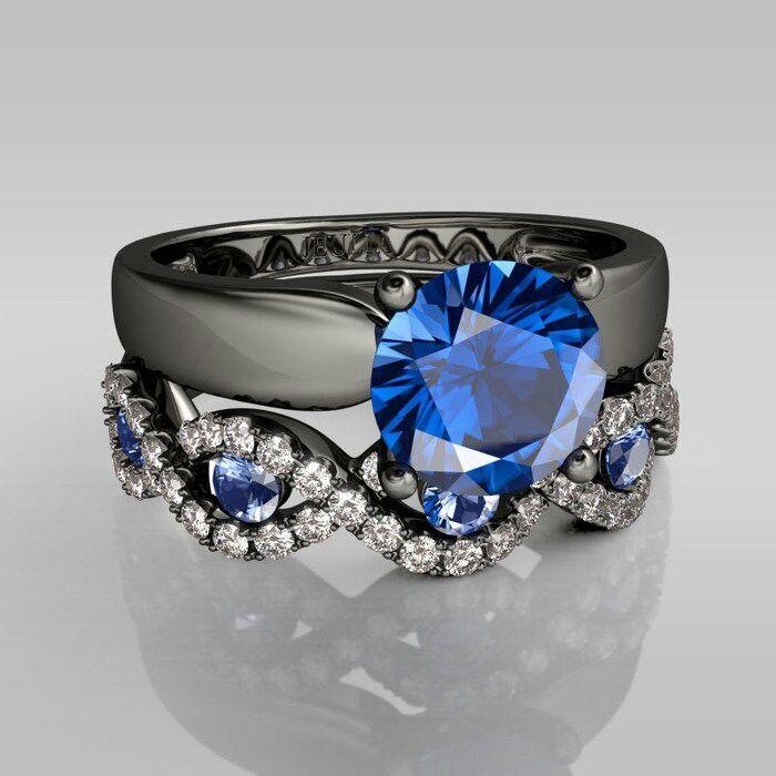 My wedding ring set.
