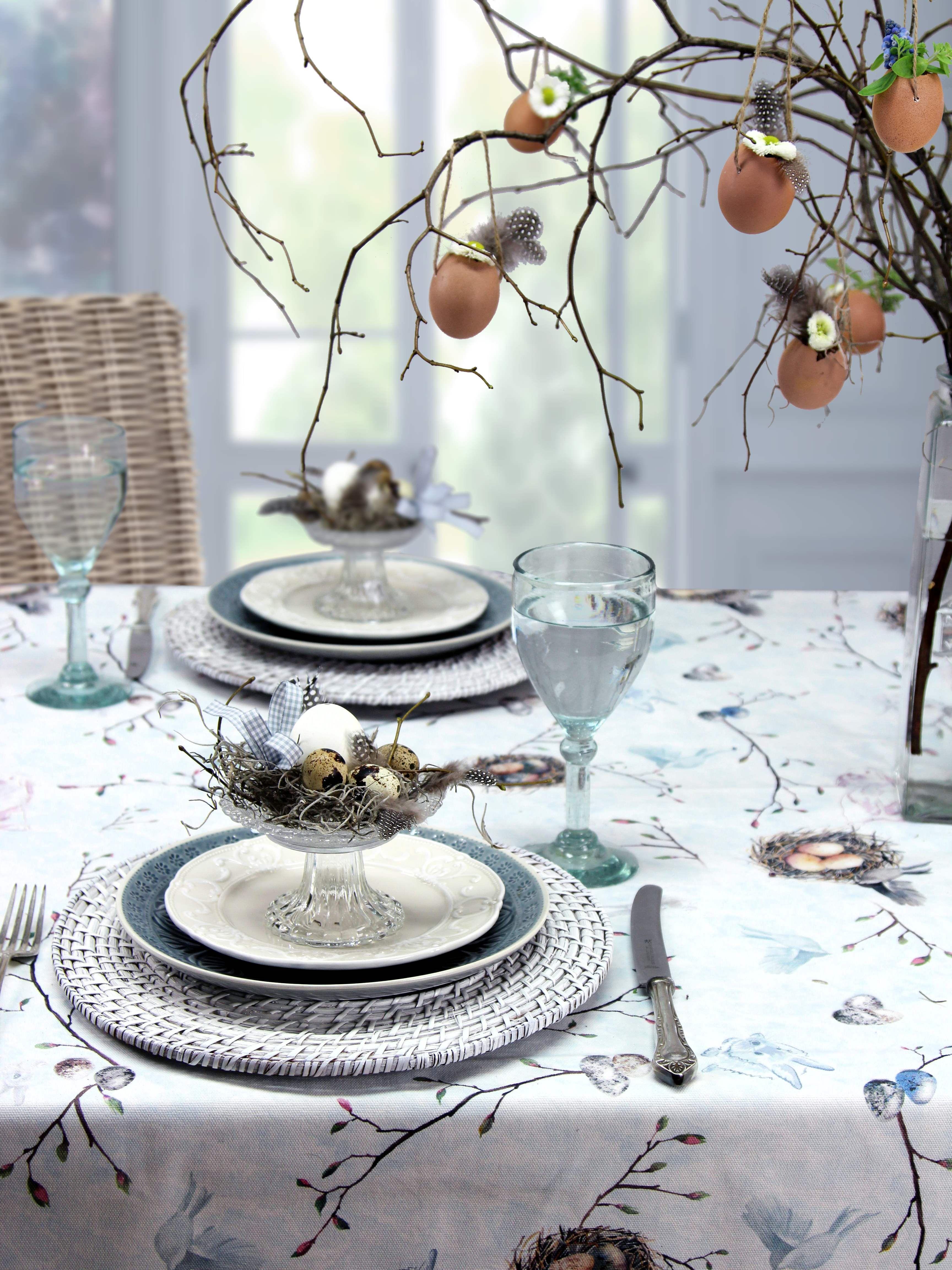 ostertischdecke sweet rabbits auch als tischl ufer kissenh llen und mitteldecke zu bestellen. Black Bedroom Furniture Sets. Home Design Ideas