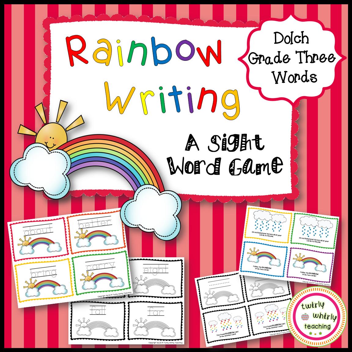 Rainbow Write Sight Words Grade 3 List
