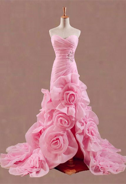 Pink Bridal Wedding Dress. I love this so much however won't go with my colors.