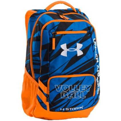 5eef504cea Under Armour 1263964 Hustle Backpack II - Neon Orange Blue