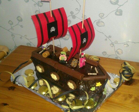 Piratenschiff Kuchen Kindergeburtstag Piraten Sause Pinterest