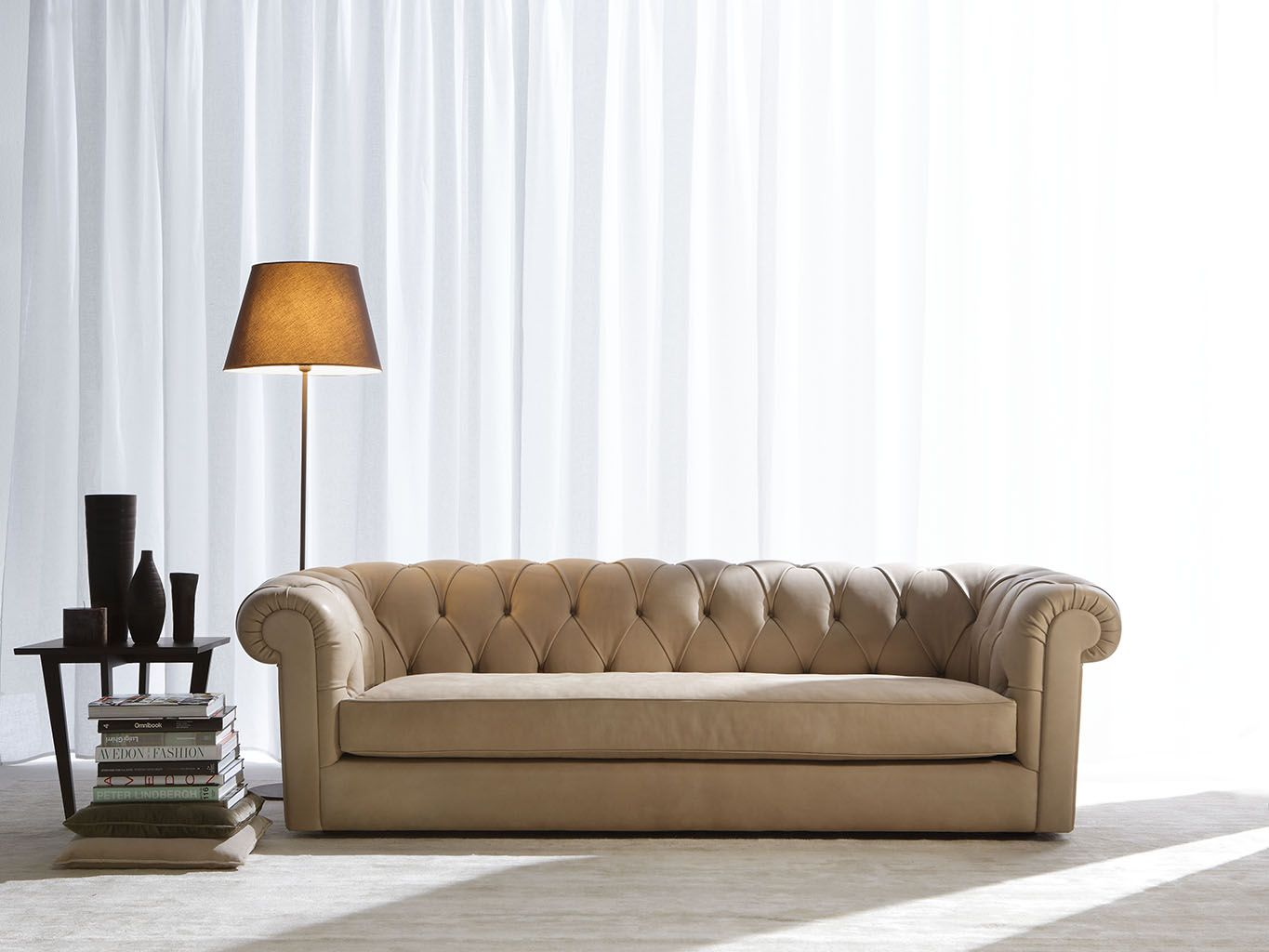 Boston Chesterfield Sofa Solid Wood Structure With Hand Tied Steel Spring  Base. 20 Years Of