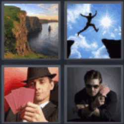 4 pics 1 word cliff with water person jumping between cliffs poker 4 pics 1 word cliff with water person jumping between cliffs poker player card dealer find the answers here you have the word you are looking for expocarfo Choice Image
