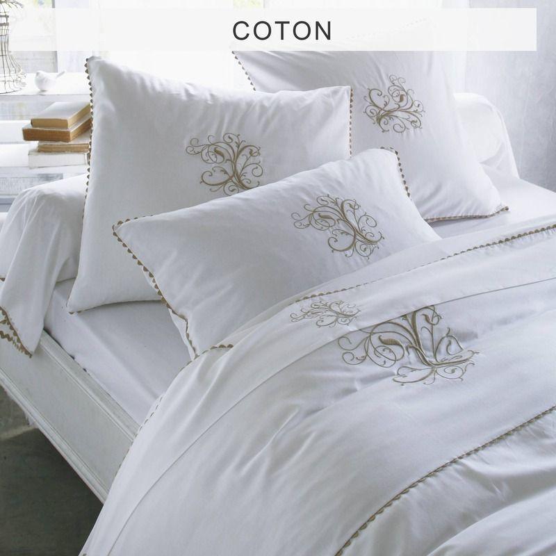 Housse De Couette Pur Coton Manoir Collection Bouchara Housse De Couette Couette Draps De Lit