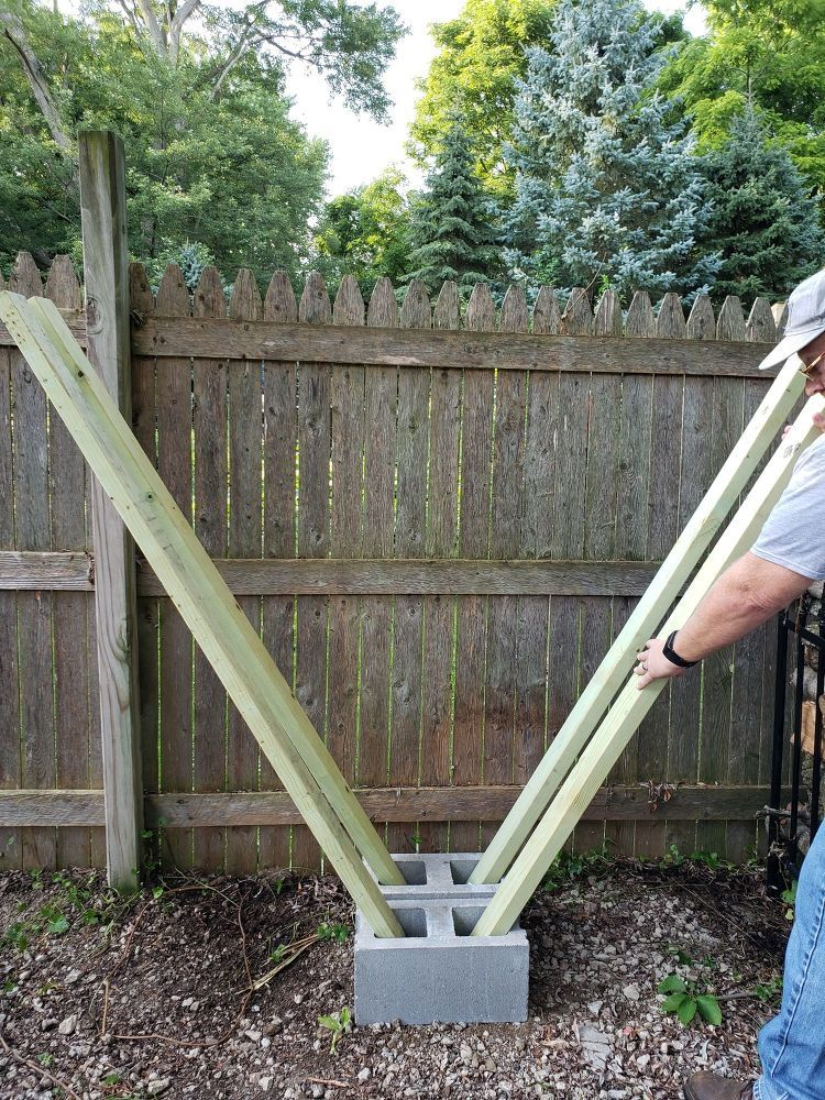 """Photo of How to Build the Easiest Firewood Rack- the """"V"""" Rack DIY"""