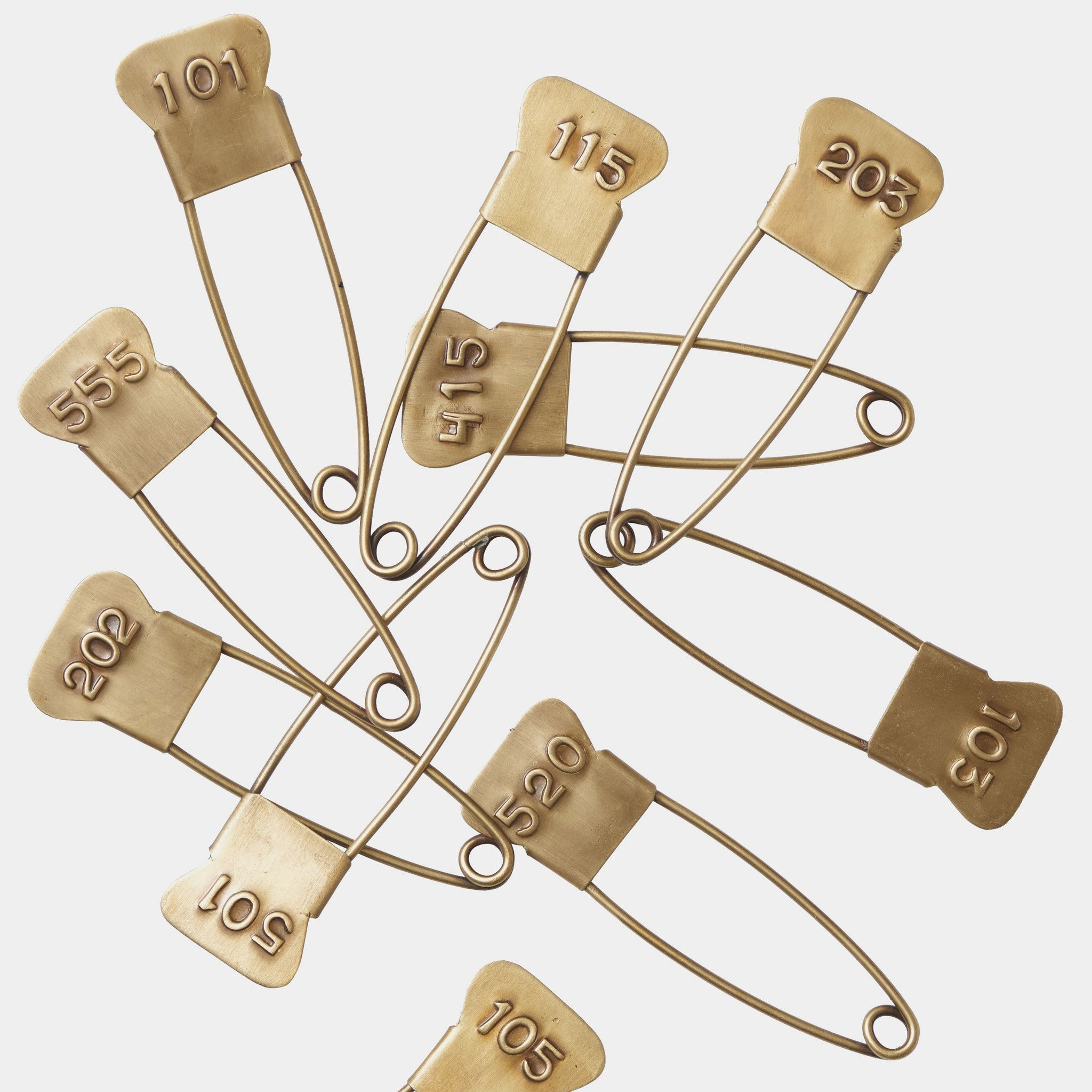 Brass Pin with Assorted Numbers Safety pin art, Urban