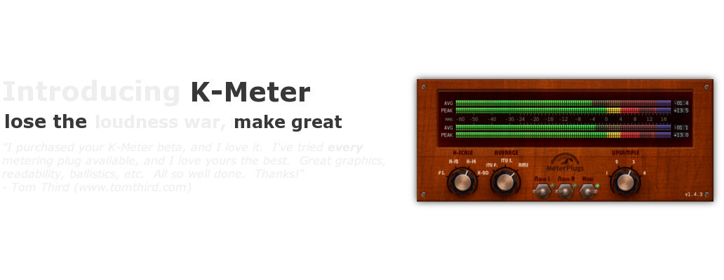 K-Meter screenshot.