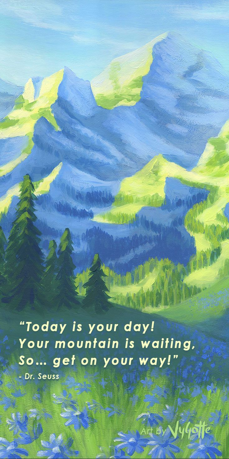 Inspirational quote about life by Dr. Seuss. Acrylic