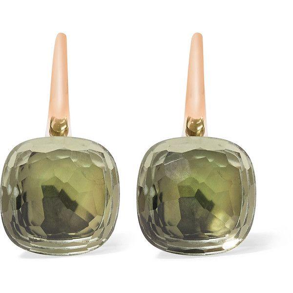 POMELLATO Nudo Emerald Drop Earrings in 18K Gold lRy3tIsrJ