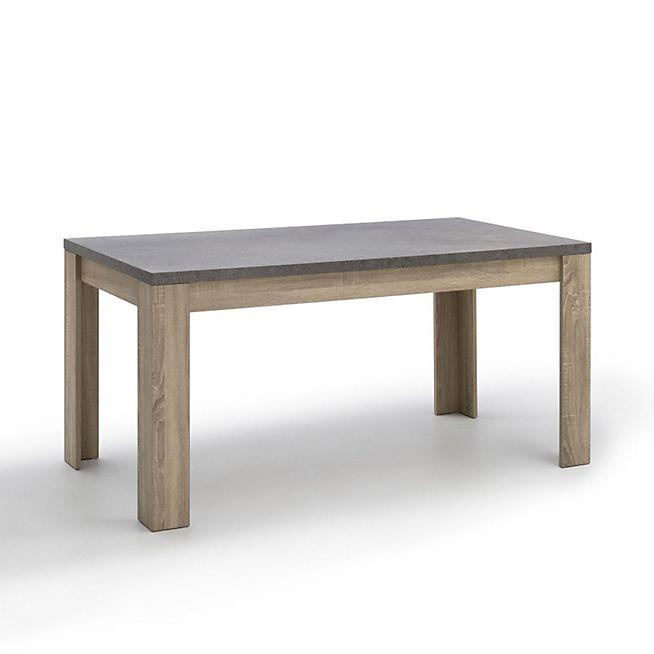 Milo rectangulaire repas convives L160cm 8 Table à 6 de QBWeordxC