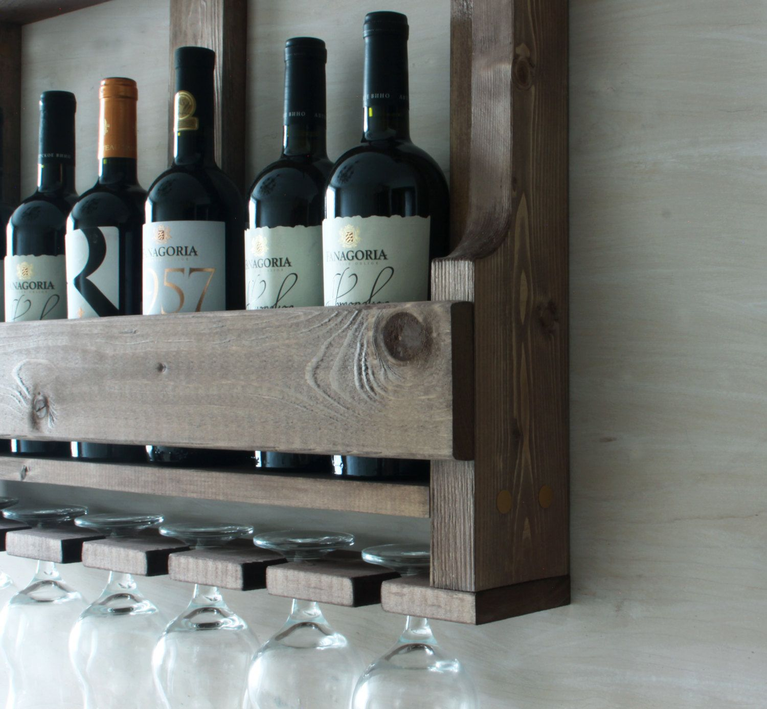 Wooden Wine Rack Wedding Gift Gift For Father Rustic Wine