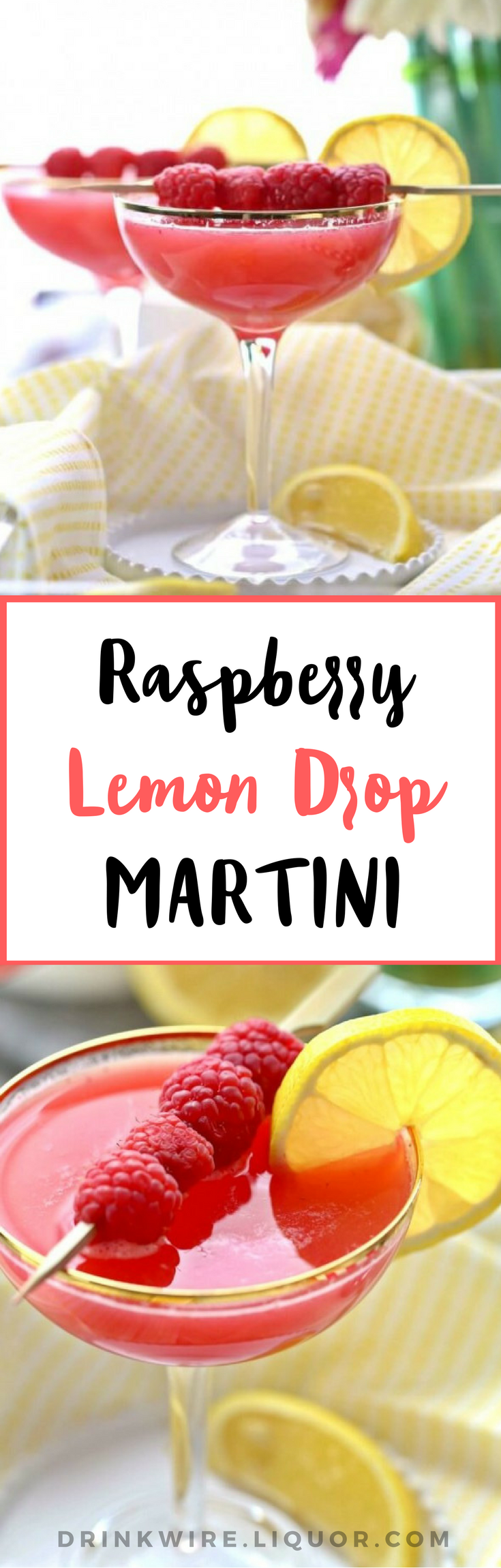This raspberry lemon drop #martini is an instant modern classic #cocktail. You'll enjoy it anytime of year, not just #summer. Trust us.