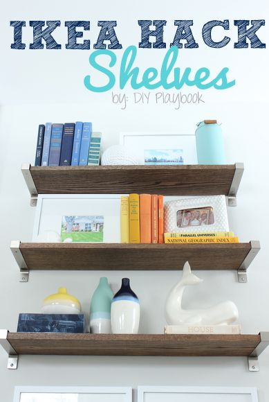 Ikea Shelf Hack For Ekby Shelves Diy Project Diy Playbook Rustic Shelves Ikea Shelves Shelves