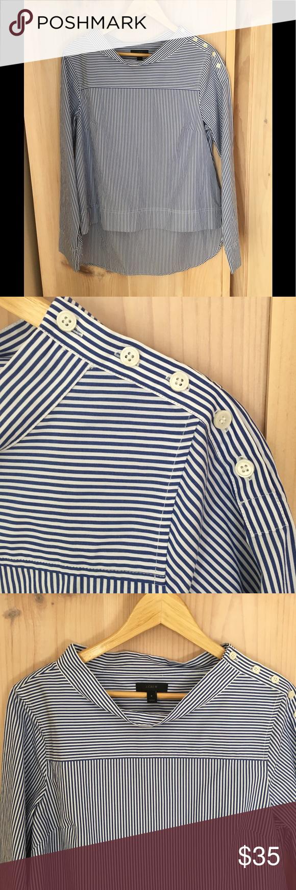 NWOT J. Crew Funnel neck blouse. NWOT J. Crew Funn